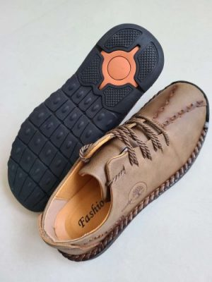 Men Microfiber Leather Hand Stitching Comfort Soft Casual Shoes photo review
