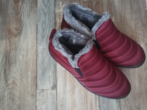 Men and Women Snow Boots Warm Plush Fur Ankle Boots photo review